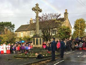Pictures of the civic ceremony on Remembrance Day, 11th November 2018