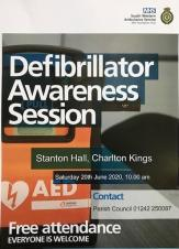 Defibrillator Awareness Session - Monday, 3rd June 2019, 5.00 pm