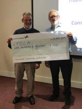 Community Open Meeting - 13th May 2019 - Grant presentation to FOLK
