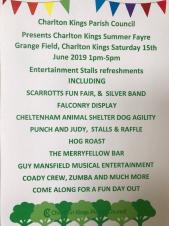 Charlton Kings Summer Fayre - Saturday, 15th June 2019 1.00 pm to 5.00 pm