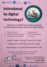 FREE digital technology training sessions for older people - August and September 2019