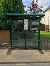 New bus shelter installed