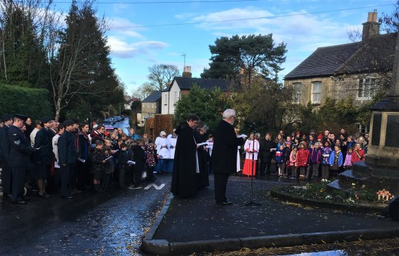 Remembrance Day, Charlton Kings - 11th November 2018 - CKPC Chair giving Pericles oration