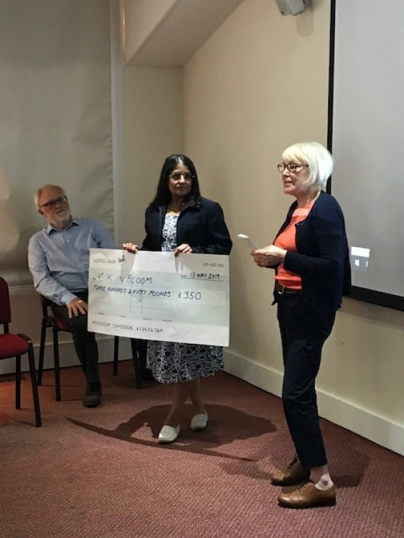 Community Open Meeting - 13th May 2019 - Grant presentation to CK in Bloom